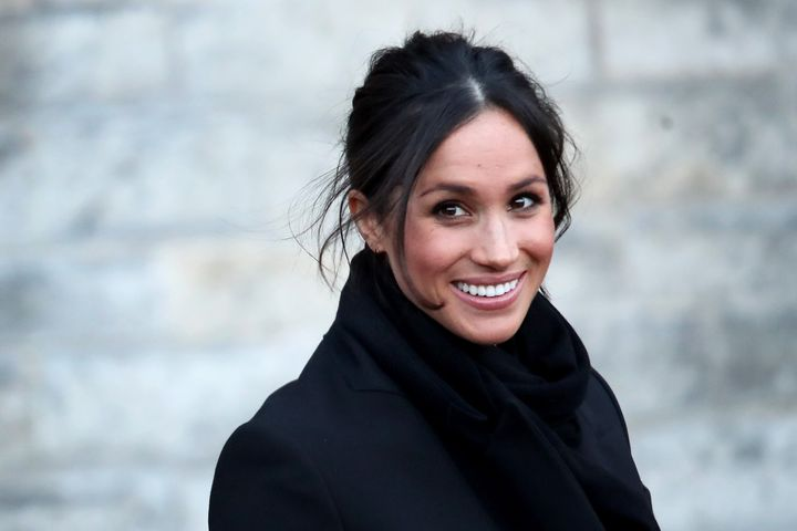 Meghan Markle pictured at Cardiff Castle on Jan.18, 2018 in Cardiff, Wales.
