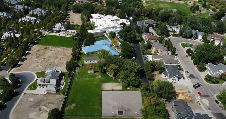 An aerial view of Provo Canyon School in Provo, Utah, which was part of a promotional video released on Oct. 29, 2020. Juli-Ann Aaron and Lee Goldman both said they were never allowed to use the outdoor facilities, or even look outside.