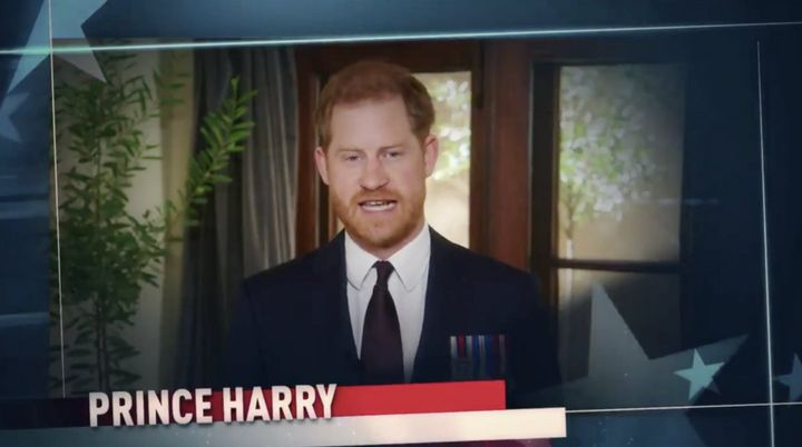 Prince Harry speaks from the heart during his virtual appearance at the Stand Up for Heroes fundraiser on Wednesday night.