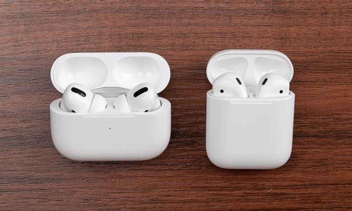 "All version of <a href=""https://amzn.to/3jx45Jm"" target=""_blank"" rel=""noopener noreferrer"">AirPods</a> easily sync to all of your Apple devices via Bluetooth, and can play, pause or skip with a simple double-tap motion.&nbsp;The <a href=""https://amzn.to/2YN9nYX"" target=""_blank"" rel=""noopener noreferrer"">AirPods Pro</a>&nbsp;are different because of a unique noise cancellation and amplification mode."