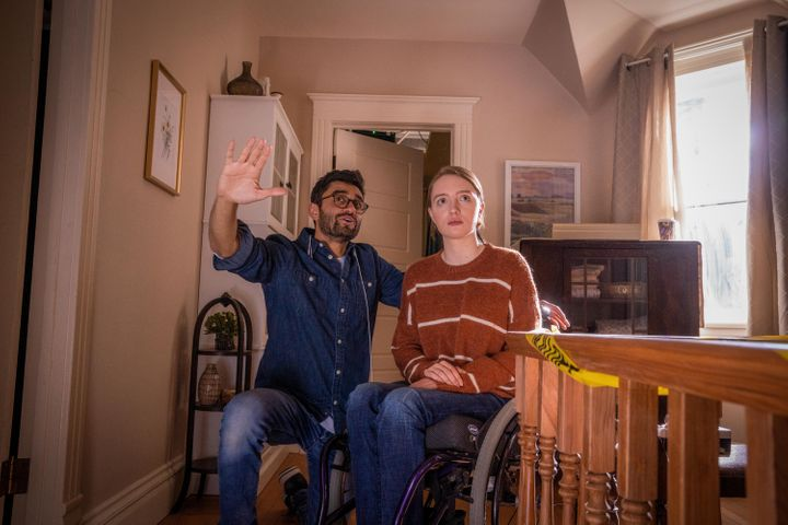 "Director Aneesh Chaganty (left): ""To say a disabled character has to be played by a disabled actor [is] a very, very simple m"