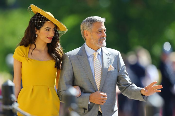 Amal and George Clooney at Prince Harry and Meghan Markle's wedding on May 19, 2018, in Windsor, England.