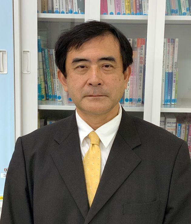 岡山大学医学部保健学科学科長の中塚幹也さん
