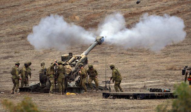 Des soldats de l'armée australienne lors d'un exercice, à 100 kilomètres au nord...