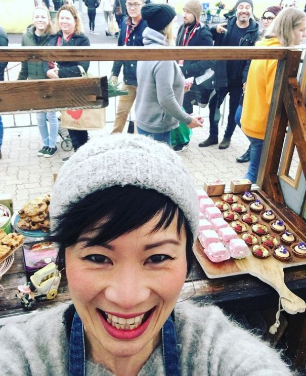 Poh Ling Yeow has her 'Jamface' stall at Adelaide Showgrounds Farmers Market every