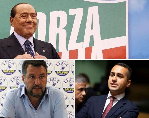 Silvio Berlusconi, Matteo Salvini e Luigi Di