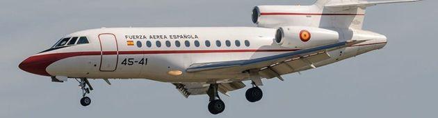Un avión Falcon, en una imagen de