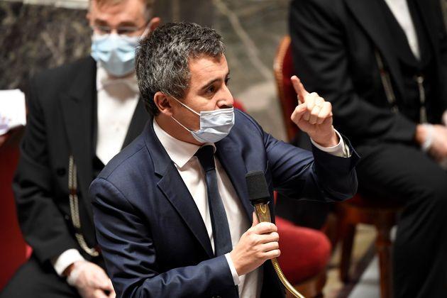 Le ministre de l'Intérieur Gérald Darmanin le 17 novembre à l'Assemblée nationale