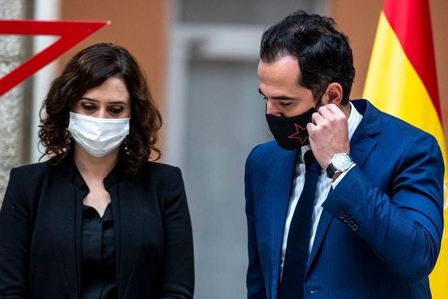 La presidenta madrileña, Isabel Díaz Ayuso, y el vicepresidente,Ignacio