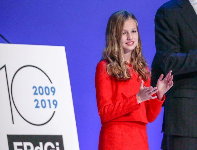 La princesa Leonor en la entrega de los Premios Fundación Princesa de Girona de