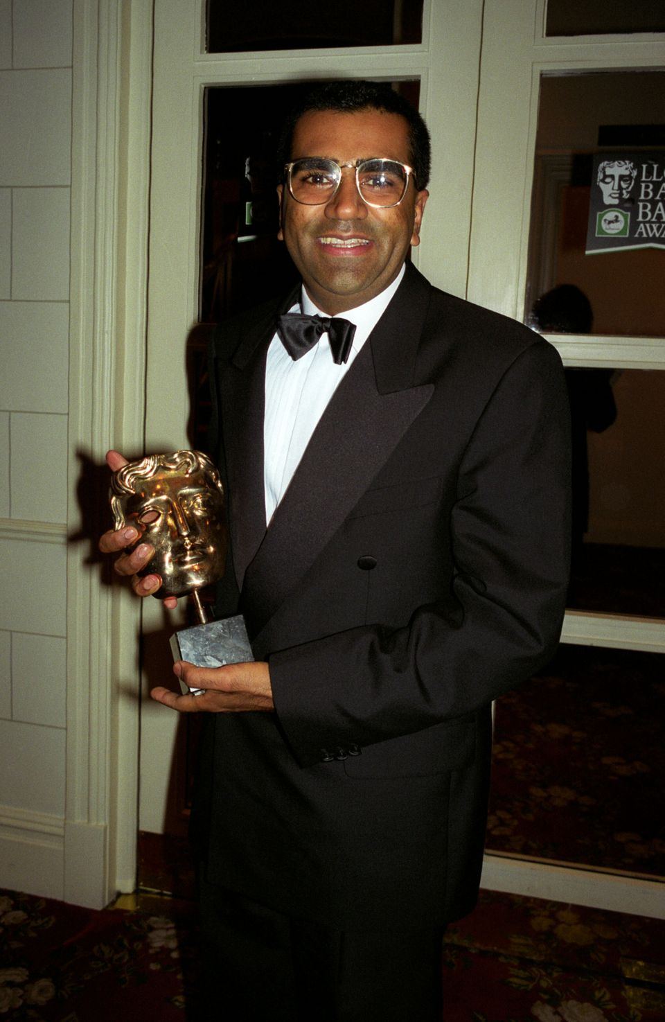 Bashir with his Bafta award for the interview, pictured on 21 April 1996