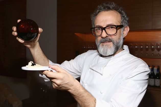 NEW YORK, NY - NOVEMBER 17: Massimo Bottura attends Edible Schoolyard NYC Annual Harvest Dinner with...