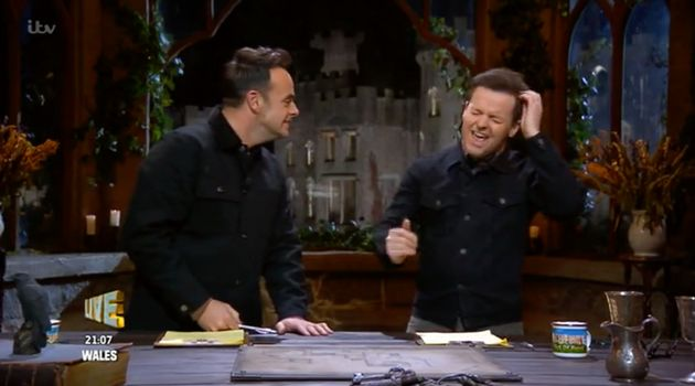 Ant and Dec during Wednesday's I'm A