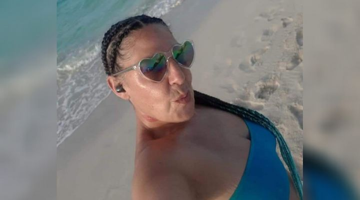 Antoinette Traboulsi is photographed on a beach in an undated Facebook photo. The 52-year-old woman workedas a hygiene and sanitation attendant at Montreal's Sacre-Coeur hospital.