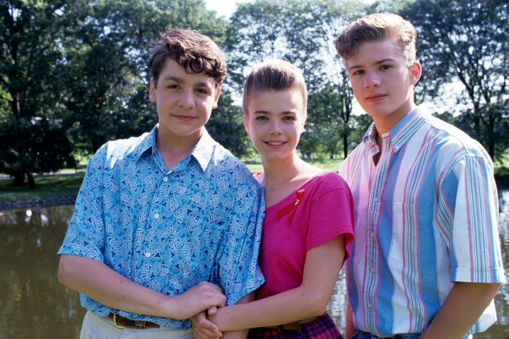 """Ryan Phillippe (right) with """"One Life to Live"""" co-starsChris McKenna andKelly Cheston in 1992."""