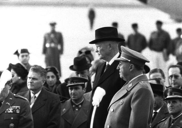 Francisco Franco y el entonces presidente de EEUU Dwight Eisenhower, en Madrid, en