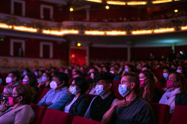 Imagen de archivo del público en el Teatro Tivoli, en Barcelona, durante la