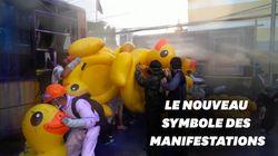 En Thaïlande, les canards gonflables symboles des manifestations