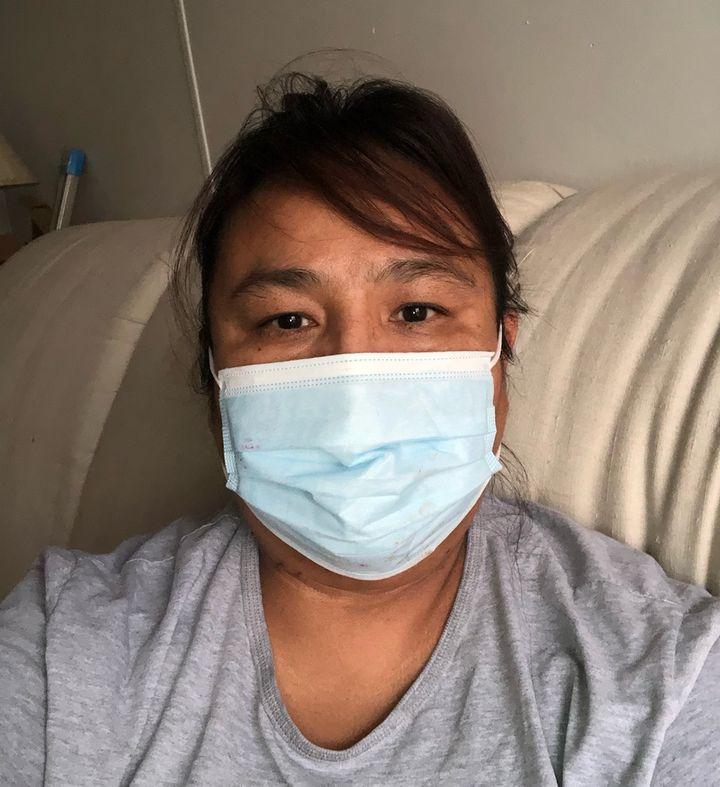 Lori Walking Eagle recovers from coronavirus at home in South Dakota.