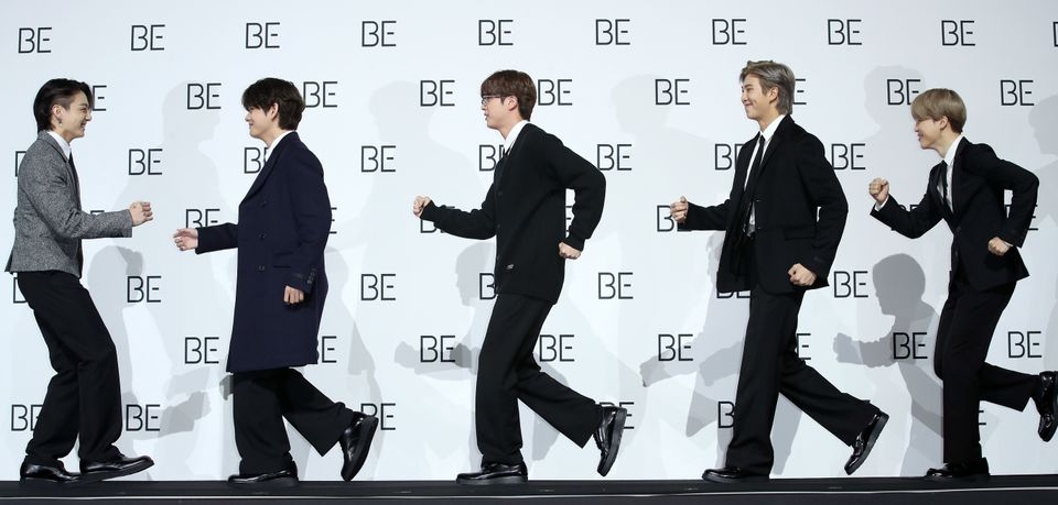 BTS '포토월에서 비틀즈