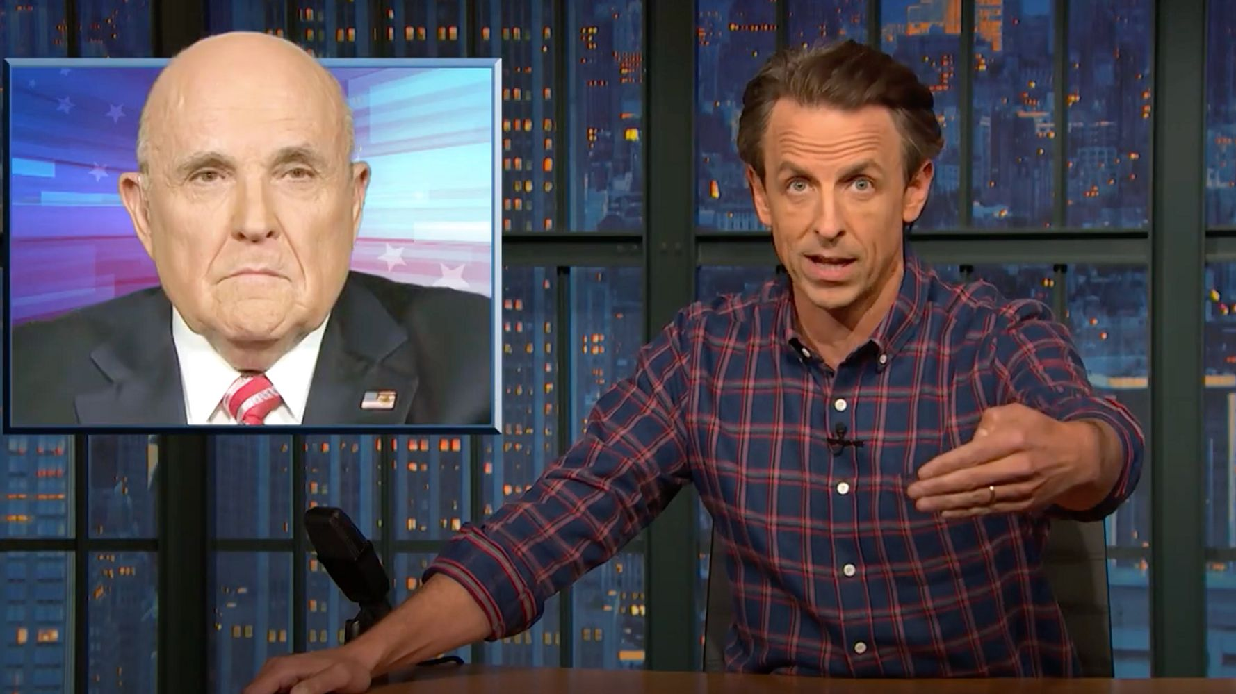 Seth Meyers Obliterates Rudy Giuliani's 'Televised Therapy Session'
