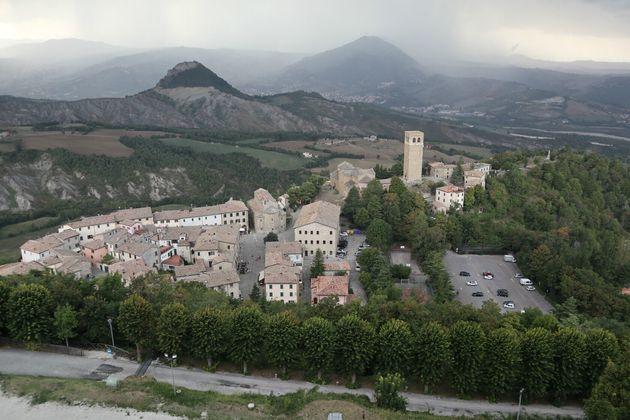 城砦から撮影したサンレオの町