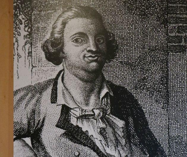 サンレオ城砦に展示してあったカリオストロ伯爵の肖像画