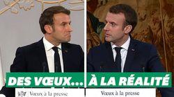 Des vœux à la presse de Macron... à la