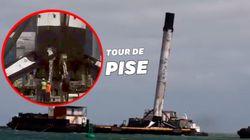 Cette fusée de SpaceX a eu très chaud à son retour sur