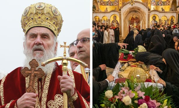 Il patriarca Irinej; il funerale del capo della chiesa ortodossa in