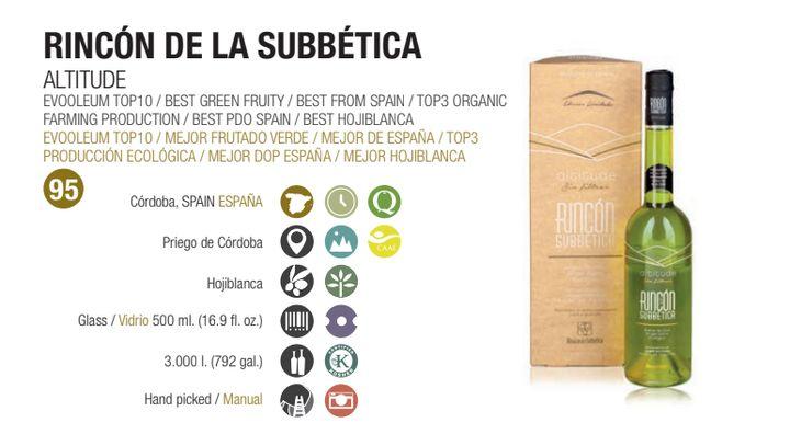 Aceite Rincón de la Subbética Altitude.