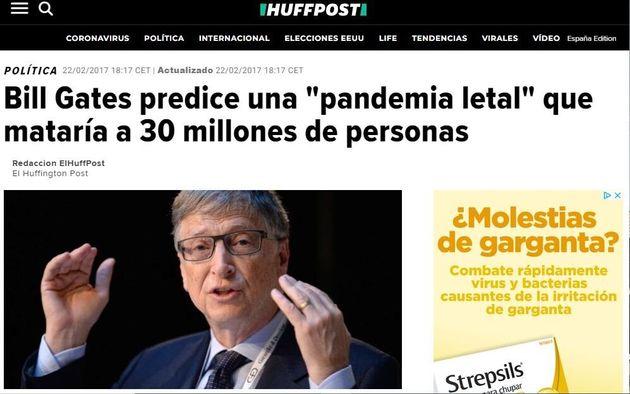 La noticia de 'El HuffPost' de