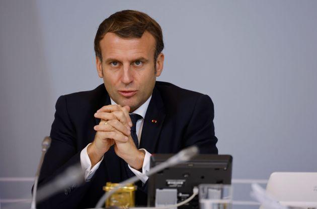 Emmanuel Macron, ici photographié lors d'une réunion à l'Élysée le...