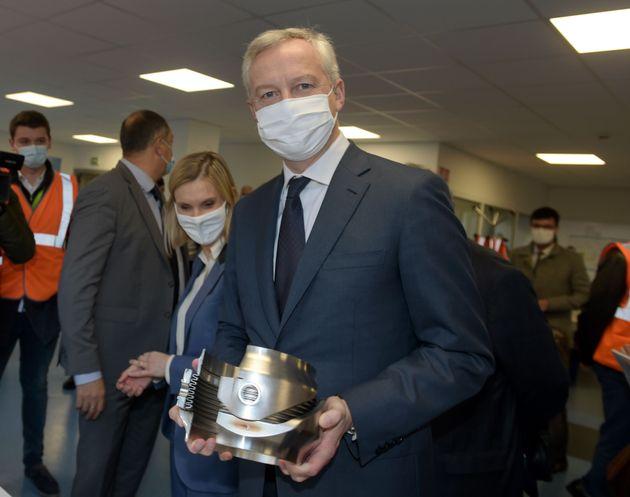 Le ministre de l'Économie Bruno Le Maire, ici photographié le 19 novembre, a remporté...