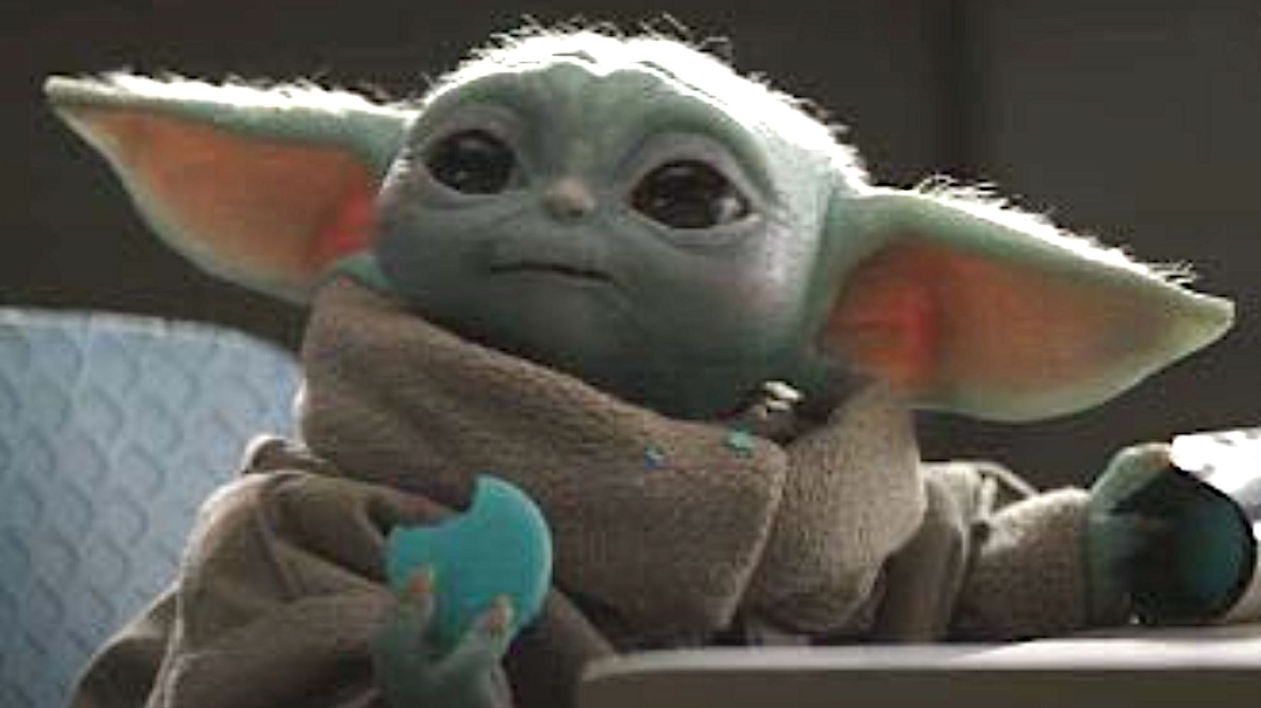 Baby Yoda Eating A Macaron On 'The Mandalorian' Is 'Too Adorable'