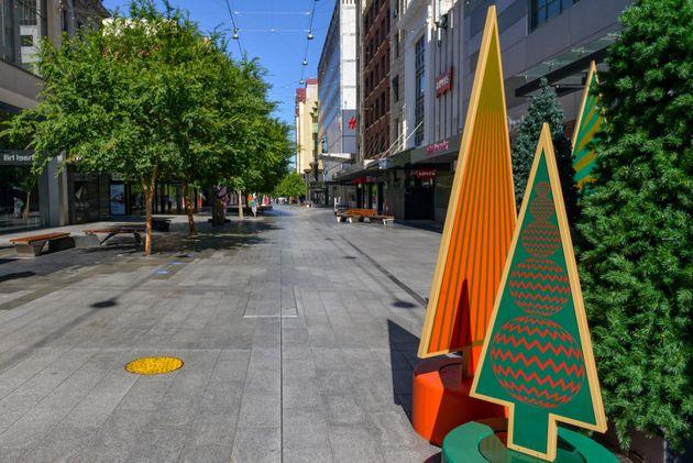 Une rue vide à Adélaïde, en Australie, le 18 novembre