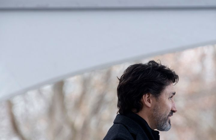 Prime Minister Justin Trudeau speak to the media during a news conference outside Rideau Cottage in Ottawa on Nov. 20, 2020.