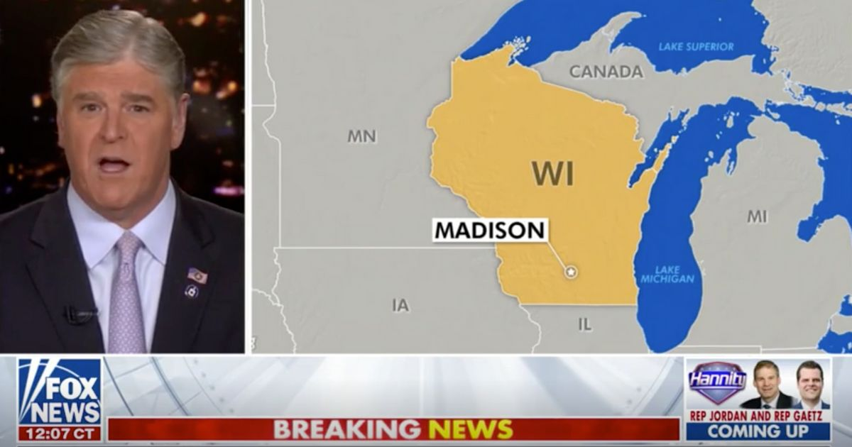 Mi Map Canada Fox News' Sean Hannity Highlights Part Of Michigan As Being In