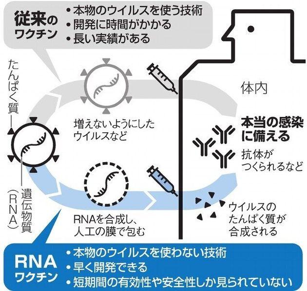 【図解説】従来のワクチンとRNAワクチン