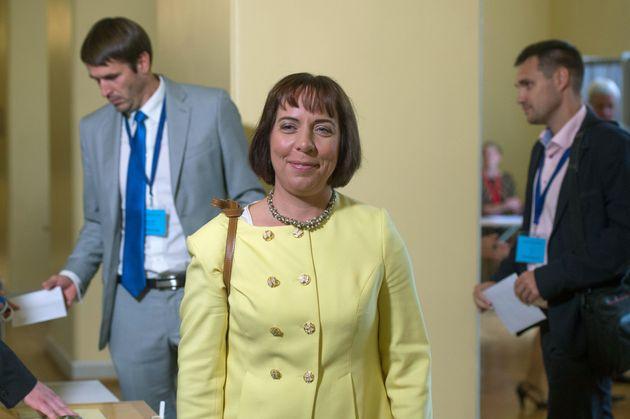 Η υπουργός Παιδείας της Εσθονίας Μάιλις Ρεπς.