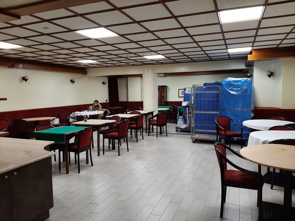 Il ristorante trasformato in un sala