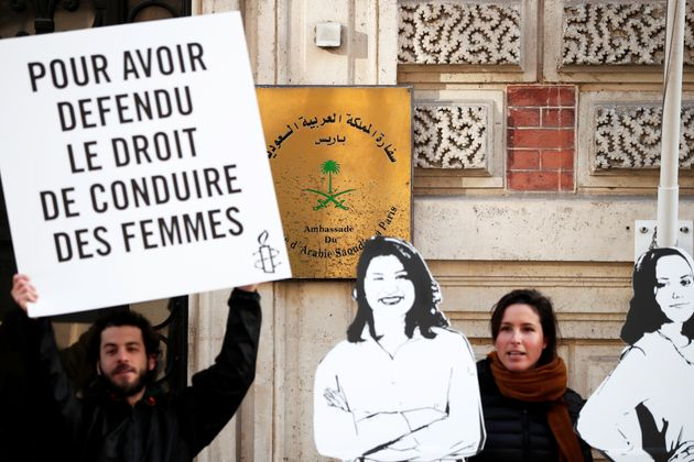 Manifestazione per la liberazione di Loujain al-Hathloul, Eman al-Nafjan e Aziza