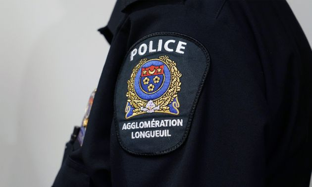 Close-up of a Longueuil police insignia in Longueuil, Que., February 15,