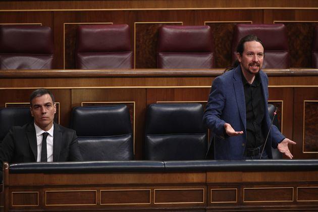 Pedro Sánchez y Pablo Iglesias, en el