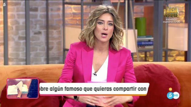 Sandra Barneda, presentadora de 'Viva La Vida' (Telecinco) en sustitución de Emma