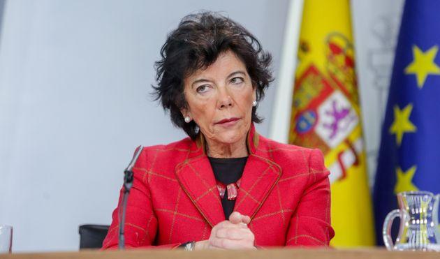 Imagen de archivo de la ministra de Educación, Isabel
