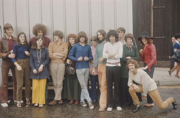 クイーン結成前、「Ibex」というバンドにいた頃のフレディ・マーキュリーとバンドのメンバー=1969年