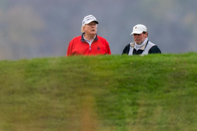 Trump skipped a global coronavirus pandemic meeting to play golf on Saturday.