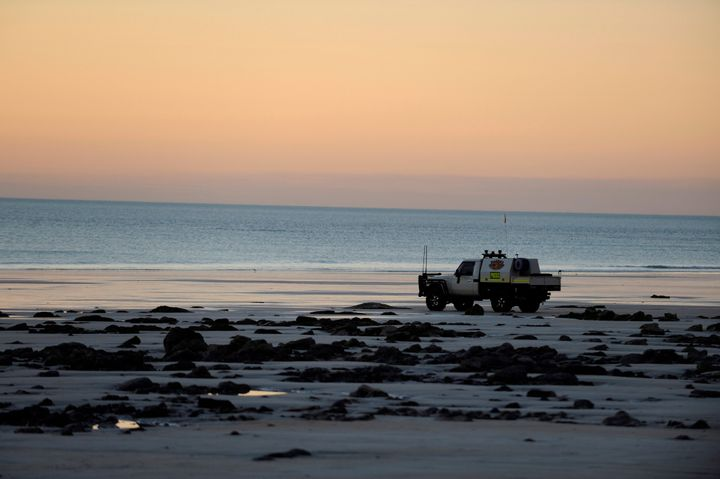 Cable Beach in Western Australia, where a 55-year-old man died Sunday following a shark attack, local authorities said.