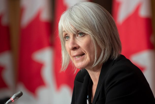 Minister of Health Patty Hajdu responds to a question during a news conference on Oct. 5, 2020 in